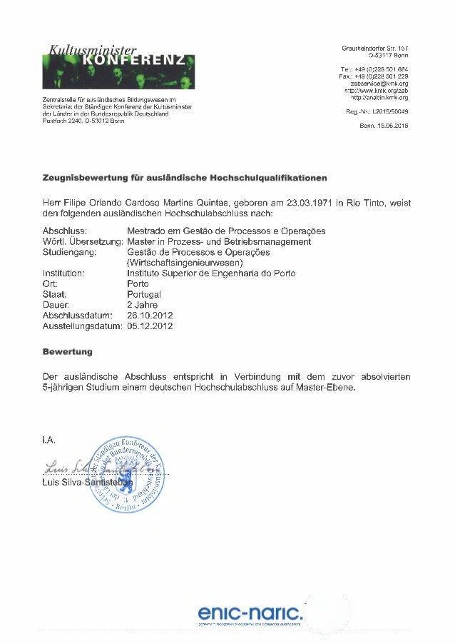 Graurheindorfer Str. 157 0-53117 Bonn Zentralstelle für ausländisches Bildungswesen im Sekretariat der Ständigen Konferenz...