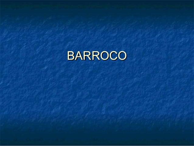 BARROCOBARROCO