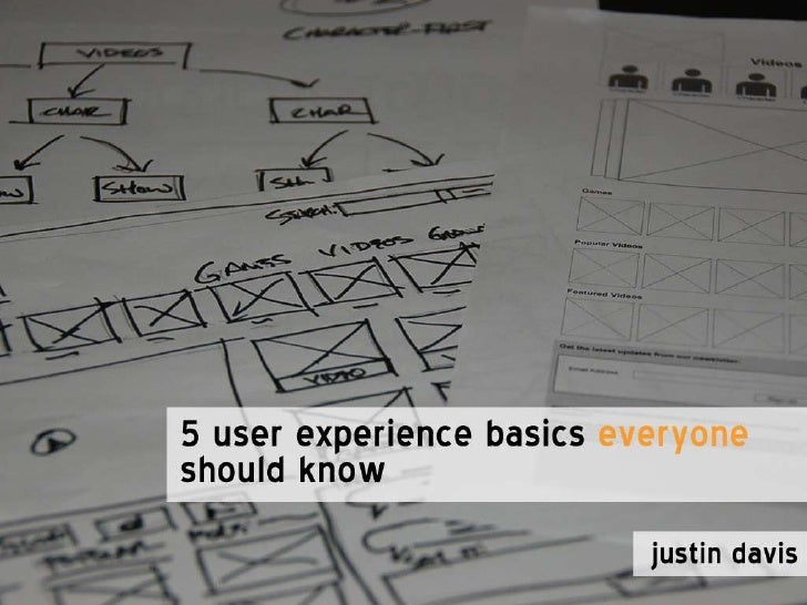Five User Experience Basics Everyone Should Know