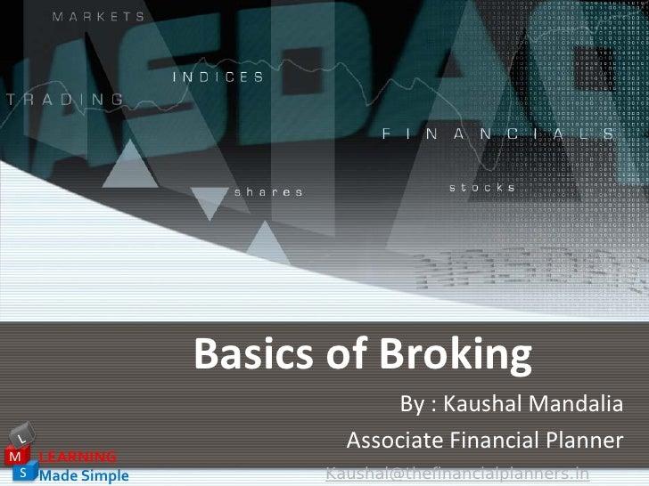 Basics Of Broking
