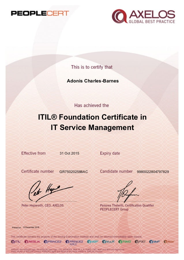 It Service Management: Itil® Foundation Certificate In It Service ...