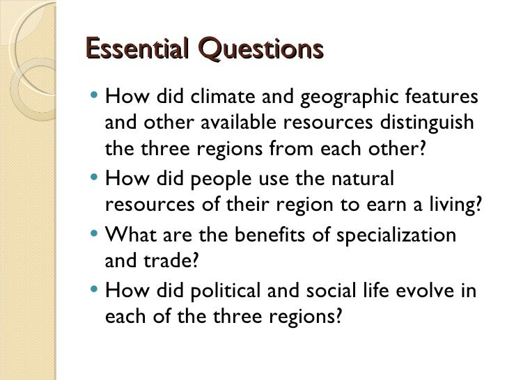 the three colonial regions Development of colonial regions climate, soil conditions, and other natural resources shaped regional economic development vus3.