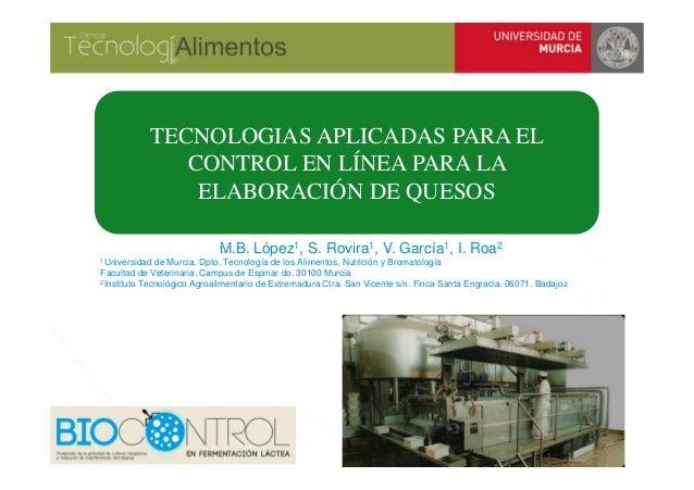 TECNOLOGIAS APLICADAS PARA EL CONTROL EN LÍNEA PARA LA ELABORACIÓN DE QUESOS
