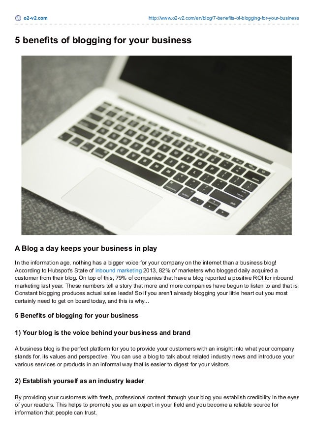 5 benefits of blogging for your business