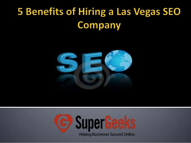 5 benefits of hiring a las vegas seo company