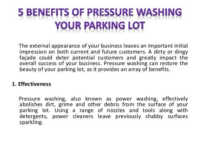 5 benefits of pressure washing your parking lot. Black Bedroom Furniture Sets. Home Design Ideas