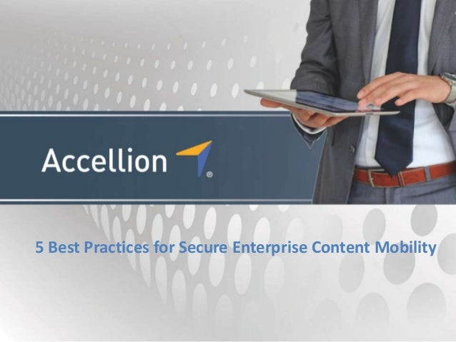 5 Best Practices for Secure Enterprise Content Mobility