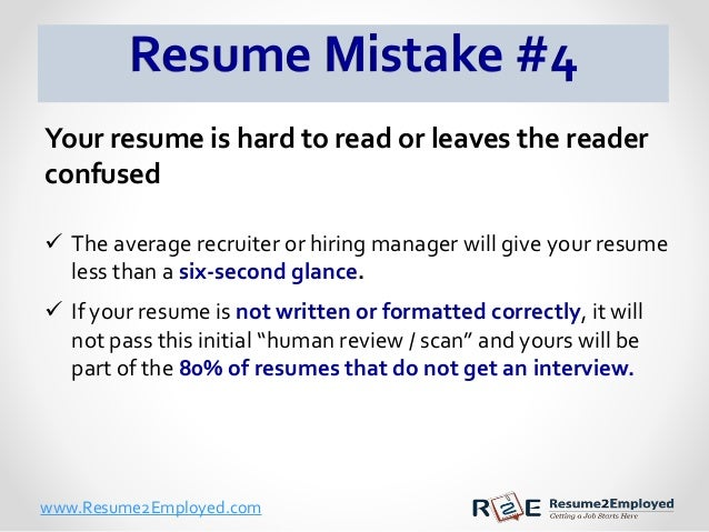 the 5 mistakes make on their resumes