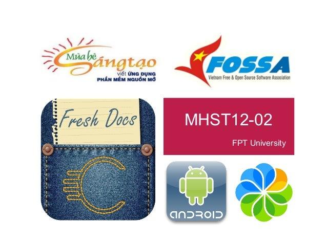 MHST 2012-02: Xây dựng Mobile Client cho Alfresco (giải nhất + giải phong cách)