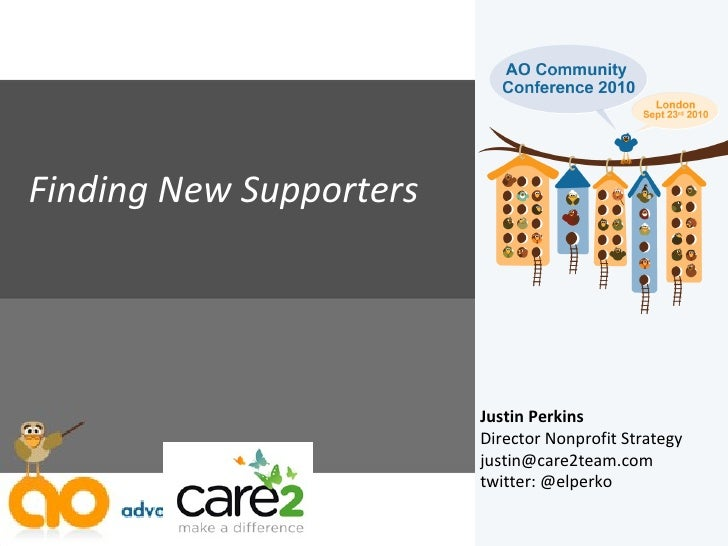 5b finding new supporters AO community conference