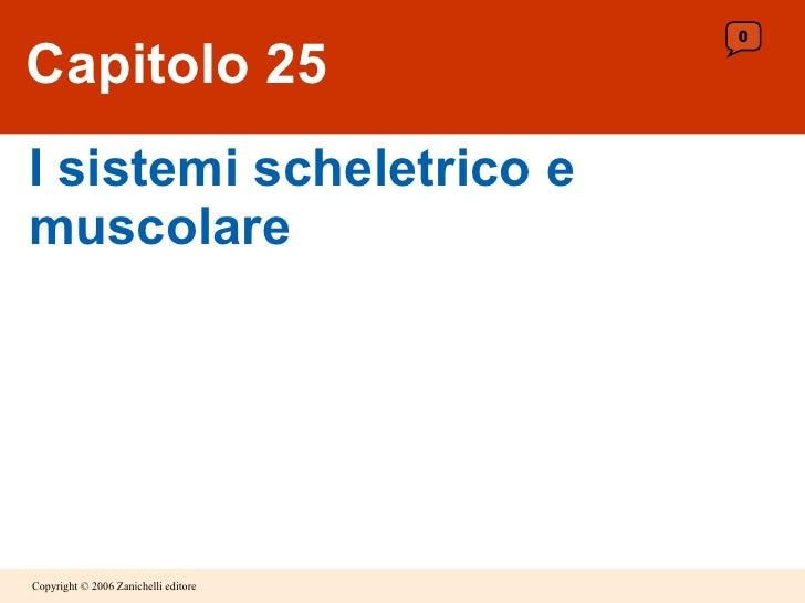 Capitolo 25 I sistemi scheletrico e muscolare 0