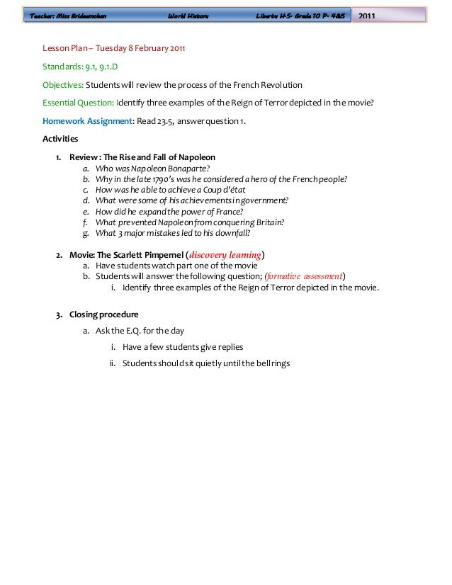 World History Lesson Plans
