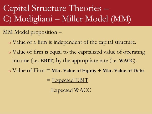 capital structure theory essay Capital structure decisions fundamentals of capital structure theory ♦ the capital structure decision - firms regularly raise capital to invest in assets.