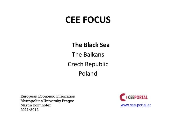 Central and Eastern Europe - Selected Topics