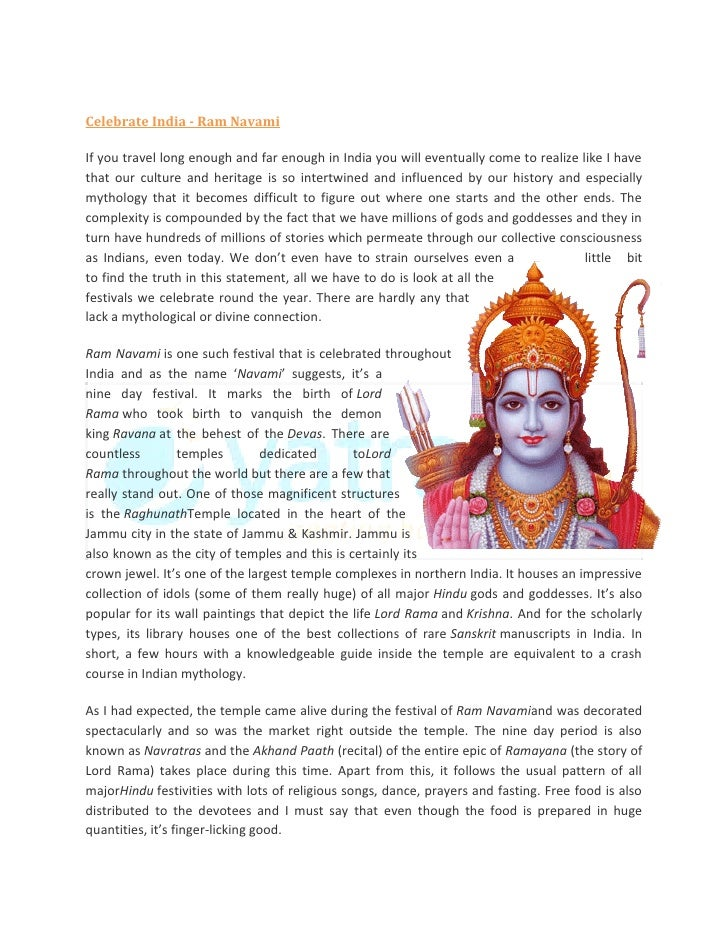 Celebrate India - Ram NavamiIf you travel long enough and far enough in India you will eventually come to realize like I h...