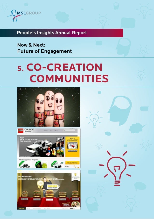 5. CO-CREATIONCOMMUNITIESPeoples Insights Annual ReportNow & Next:Future of Engagement