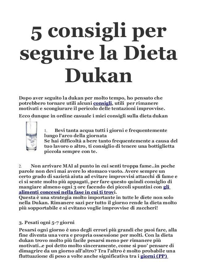 consigli dieta dukan