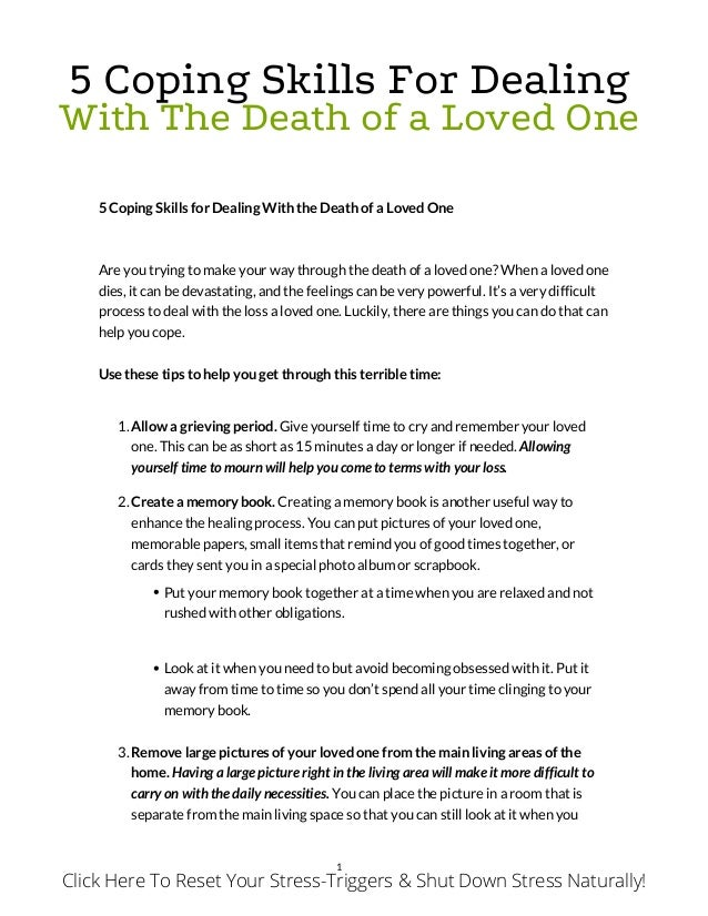 essay about losing a loved one