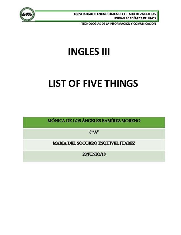 5 cosas