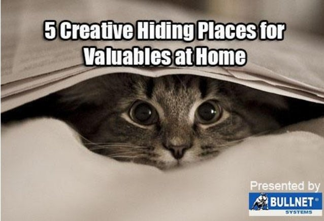 5 creative hiding places for valuables at home
