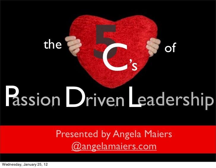 5 c's passiondrivenleadership