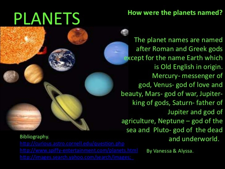 roman names of planets - photo #10