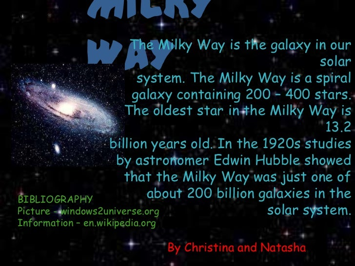 milky way galaxy facts pdf