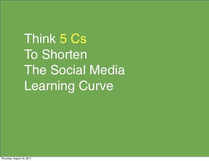 Think 5 Cs                   To Shorten                   The Social Media                   Learning CurveThursday, Augus...