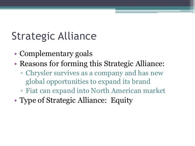 case 7 the 2009 chrysler fiat strategic alliance Chrysler-fiat case study - obama's bailout funds lucas cannan the chrysler-fiat alliance conditions at the time of the alliance what is a strategic.