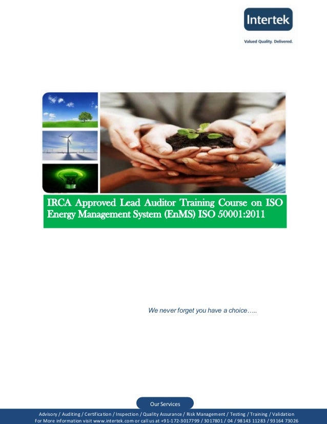IRCA, UK Accredited Lead Auditor Training Course on  Energy Management System- EnMS (ISO 50001:2011)