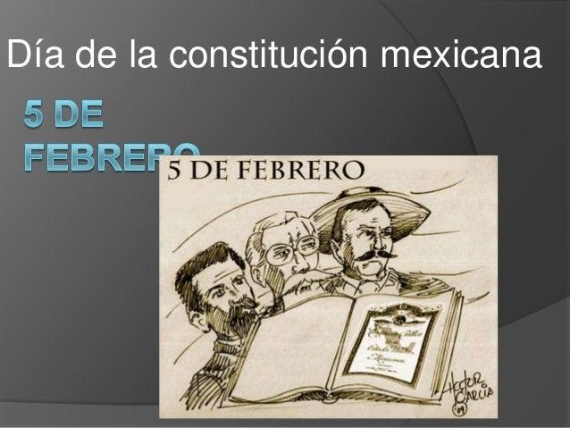 Día de la constitución mexicana