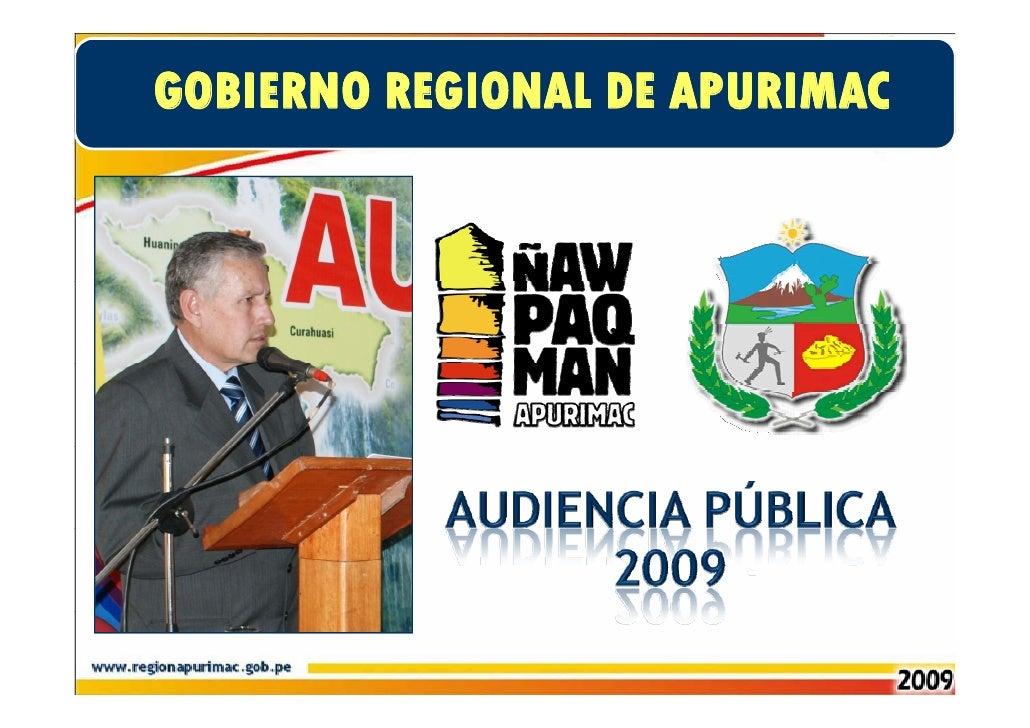 Presentación en la Audiencia Pública 2009 - Desarrollo Economico