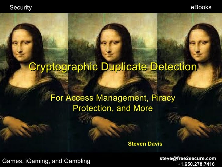 Security                                           eBooks        Cryptographic Duplicate Detection               For Acces...