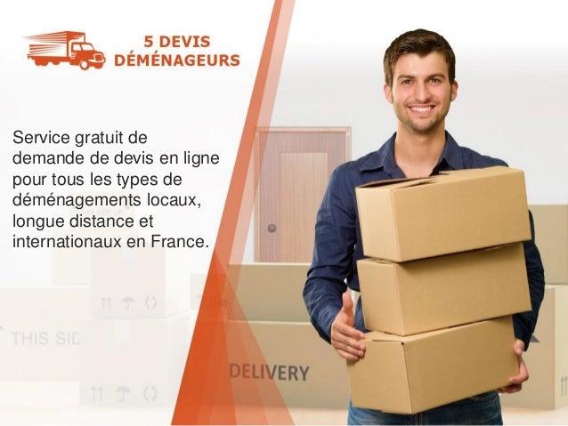 Service gratuit de demande de devis en ligne pour tous les types de déménagements locaux, longue distance et internationau...