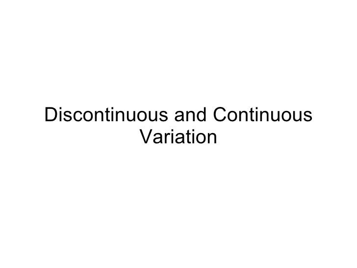 Chapter 19 Heredity Lesson 5 - Discontinuous and Continuous Variation