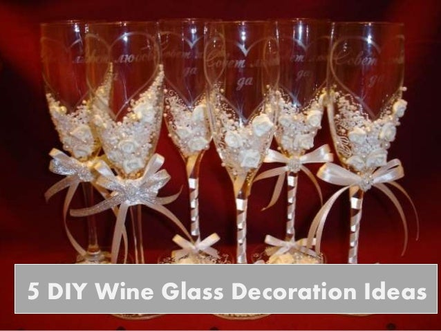 5 diy wine glass decoration ideas