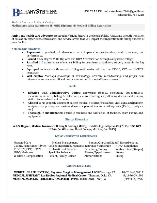Unusual Inspiration Ideas Medical Coding Resume Samples 4 Medical