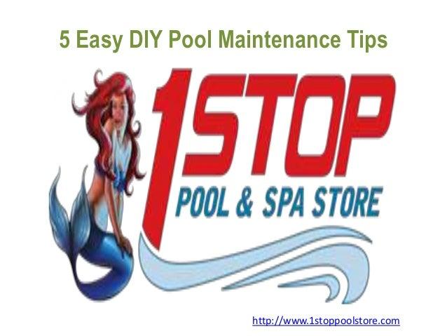 easy diy pool maintenance tips