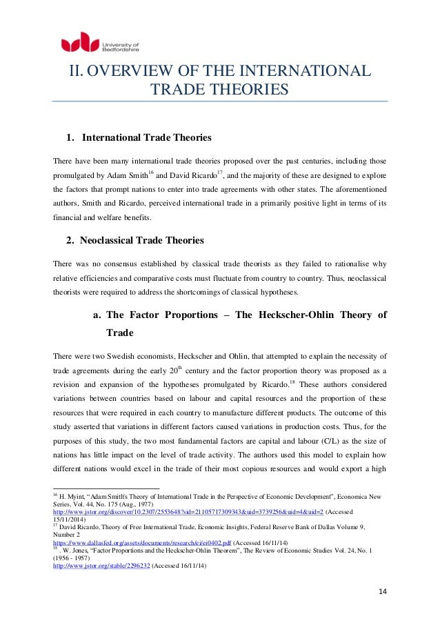 dissertations international trade Impact of government involvement in international trade - best mba dissertation titles for university students new mba dissertation projects available.