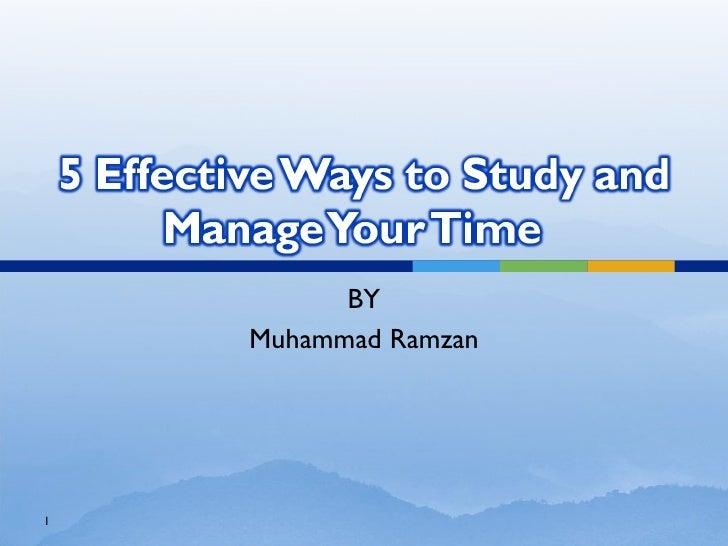 BY Muhammad Ramzan