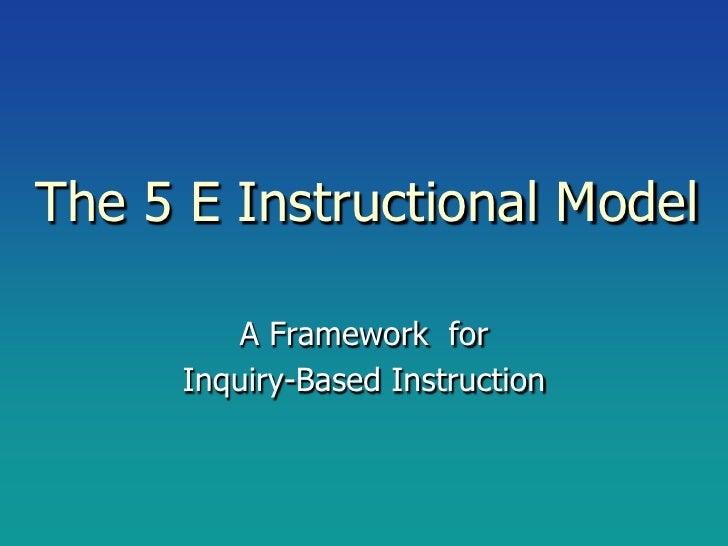 5 E instructional model