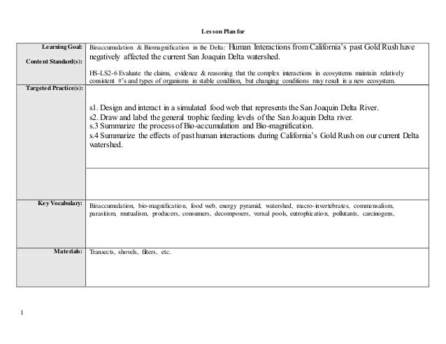five e lesson plan template - 5e lesson plan