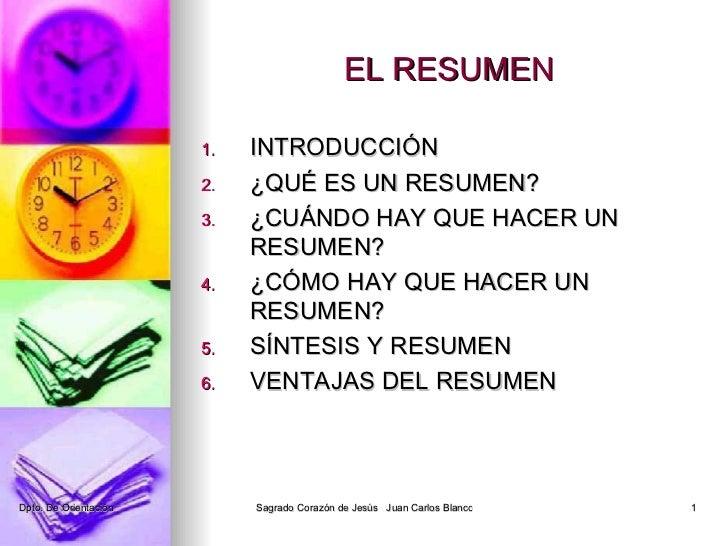 5 el resumen