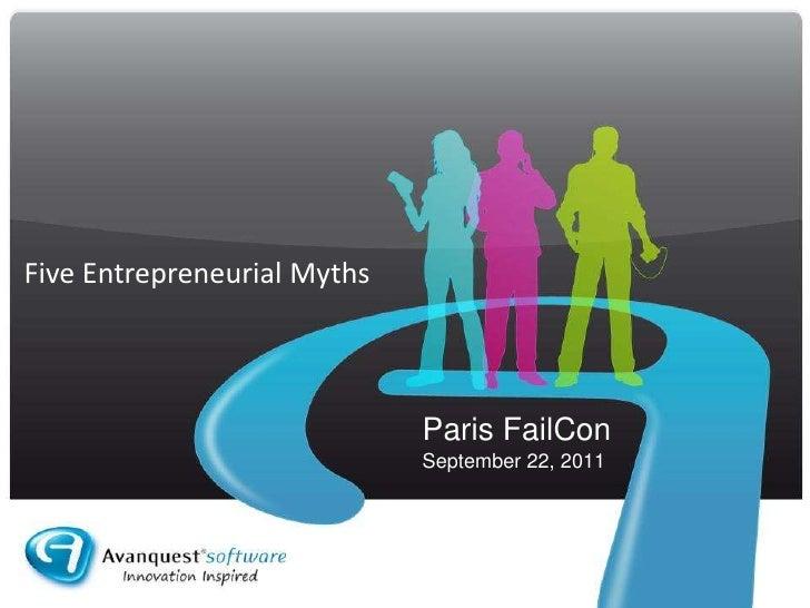 5 Entrepreneurial Myths