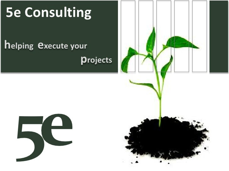 h elping  e xecute your p rojects 5e Consulting 5 e