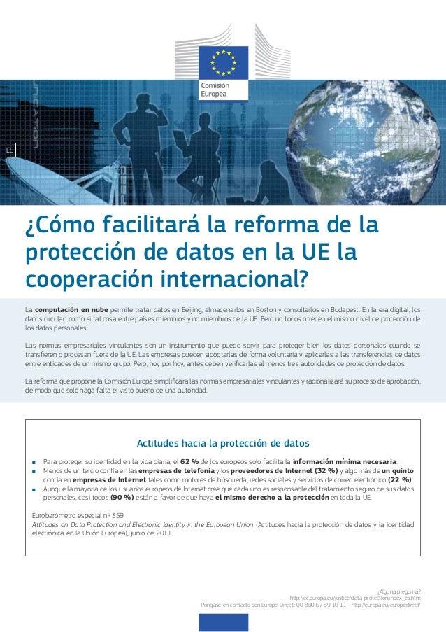 ES     ¿Cómo facilitará la reforma de la     protección de datos en la UE la     cooperación internacional?     La computa...