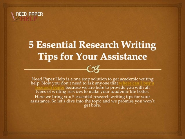 research paper writing assistance Need assistance with your college term paper order 100% original custom written term papers from our professional online research paper writing service contact us to get high-quality term paper help that will improve your grades.