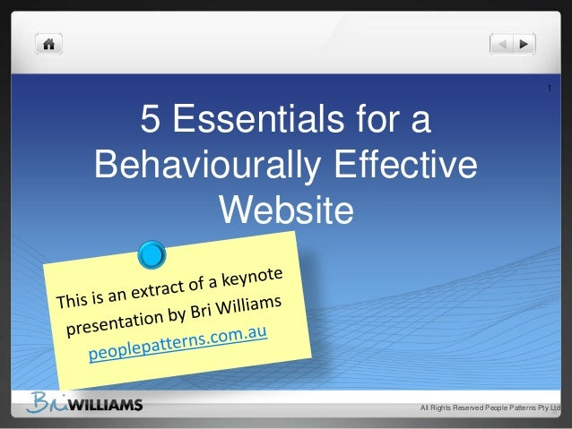 5 essentials for a behaviourally effective website