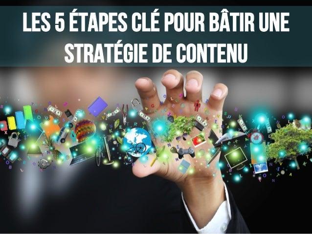 Les 5 étapes clé pour bâtir une stratégie de contenu