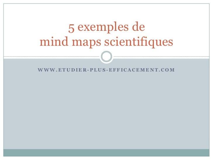 5 exemples de mind maps scientifiques